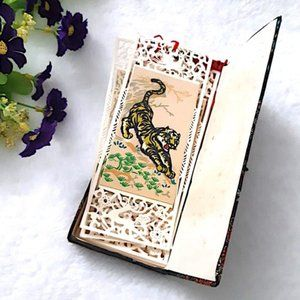 Handmade BOOKMARKS - 8 Movements of Tigers